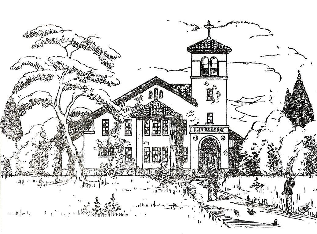 募金趣意書の完成予想図(1927年ヴォーリズ建築設計事務所作図)